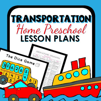 Transportation Theme Home Preschool Lesson Plans