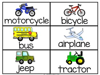 Transportation Theme Learning Pack