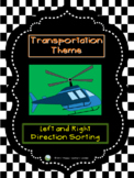 Transportation Theme - Left and Right Direction Sorting
