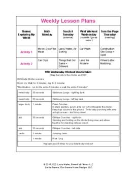 Transportation Theme Lesson Plan - Homeschool, Preschool, PreK, Kindergarten