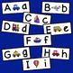 Transportation Theme Letter Matching