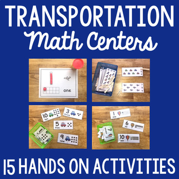 Transportation Theme Math Activities
