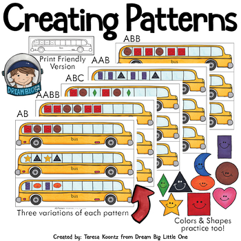 Transportation Theme Math Activities for Preschool and Pre-k, Kindergarten