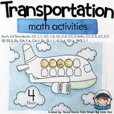 Transportation Activities for Math - Preschool Prek, Kindergarten