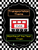 Transportation Theme - Months of the Year Train