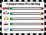 Transportation Theme Pre-Writing