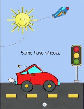 Transportation Theme Printable Mini Book - Color Version