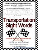 Transportation Theme Sight Word Practice