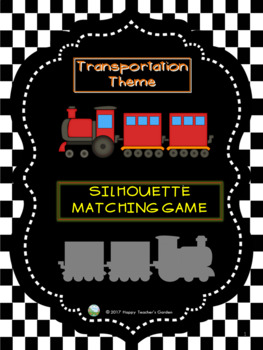 Transportation Theme - Silhouette Matching Game