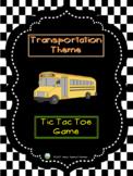 Transportation Theme - Tic Tac Toe Game