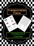 Transportation Theme - Two Crossword Puzzles