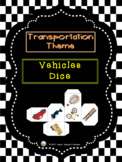 Transportation Theme - Vehicles Dice