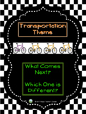 Transportation Theme - What Comes Next & Which One is Different?