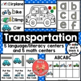 Transportation literacy and math centers for Preschool & Special Education