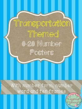 Transportation Themed 0-20 Numbers Posters