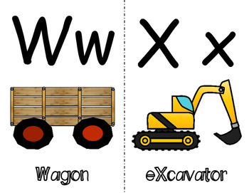 Transportation Themed Alphabet Wall Cards