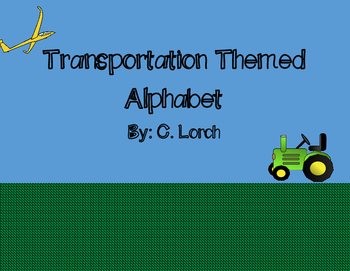 Transportation Themed Alphabet Wall Cards