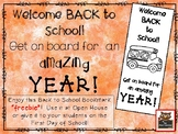 Transportation Themed Back to School and Open House Bookmark Freebie!