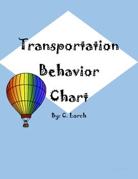 Transportation Themed Behavior Chart