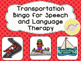 Transportation Themed Bingo for Speech and Language Therapy