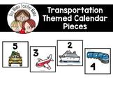 Transportation Themed Calendar Pieces