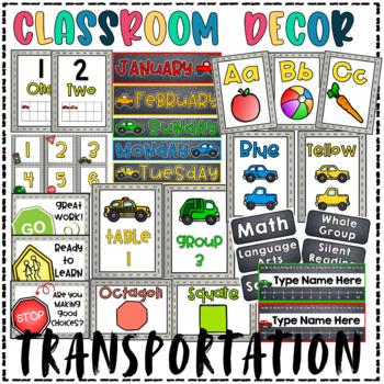 Classroom Decor- Transportation/Cars