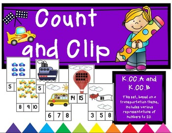 Transportation Themed Count and Clip