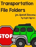 Transportation Themed File Folder Activities for Special Education