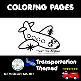 Transportation Themed Coloring Skills Pages