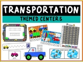 Transportation Themed Literacy and Math Centers