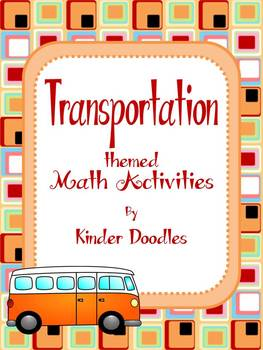 Transportation Themed Math Activities aligned with the CCSS