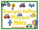 Transportation Themed Play-doh Mats
