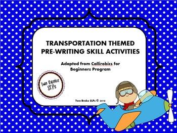 Transportation Themed Pre-Writing (Callirobics) Activities