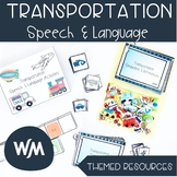 UPDATED: Transportation Themed Speech and Language Activities