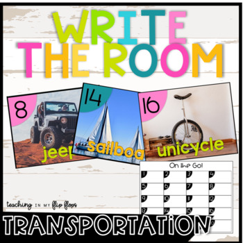 Transportation Themed Write the Room- Literacy Station