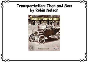 Transportation Then and Now Venn Diagram and Writing Prompts