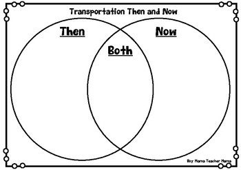 Transportation then and now venn diagram and writing prompts tpt transportation then and now venn diagram and writing prompts ccuart Gallery