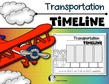 Transportation Timeline {Today and the Past} for Kindergar