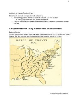 Transportation: Train W.4.2a, RI.4.7, RL.4.7, RF.4.4a, SL.4.1b, L.4.2a