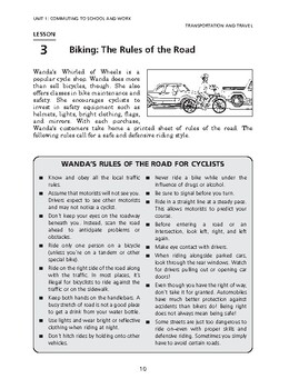 Transportation &Travel: Commuting to School & Work-Biking: The Rules of the Road
