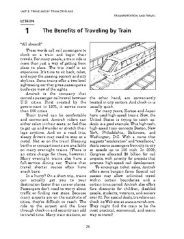 Transportation & Travel: Travel by Train or Plane-Benefits of Traveling by Train