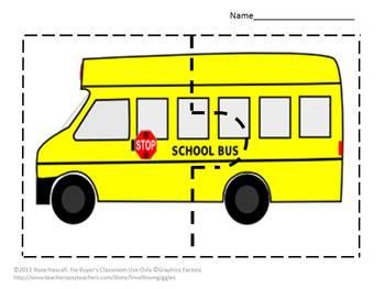 Transportation Two Piece puzzles Special Education Math, Preschool, Kindergarten