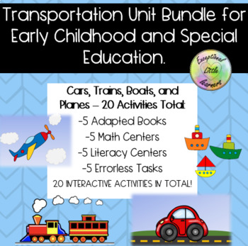 Transportation Unit Bundle for Early Childhood and Special Education
