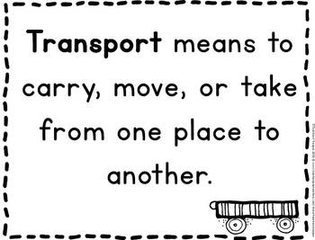 Transportation Unit Images and Worksheets (Preschool-1st Grade)