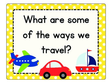 Transportation Unit: Math, Literacy, Science, Social Studies, and Craftivities