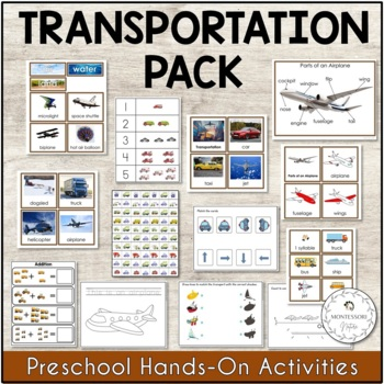 Transportation Unit Montessori Printable Activities
