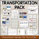 Transportation Unit Montessori Printable Activities