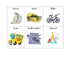 Transportation Unit Words