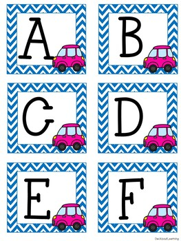 Transportation Uppercase & Lowercase Letters Cards PLUS Numbers & Number Words!