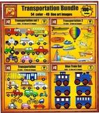 Transportation Value Bundle Clip art Set